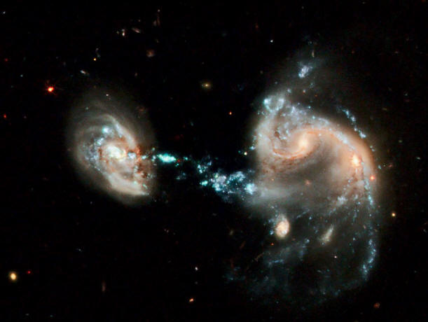 Galactic grouping Arp 194. Credit: NASA, ESA, Hubble Heritage Team (STScI/AURA).