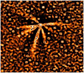 شکل (3): 7 جت هیل باب در نزدیکی مدار مشتری   اعتبار تصویر: N. Thomas (MPAE) et al., 1.5-m La Silla Telescope, ESO